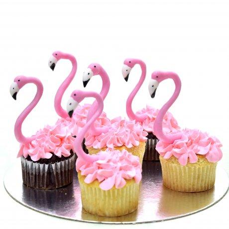 flamingo cupcakes 6