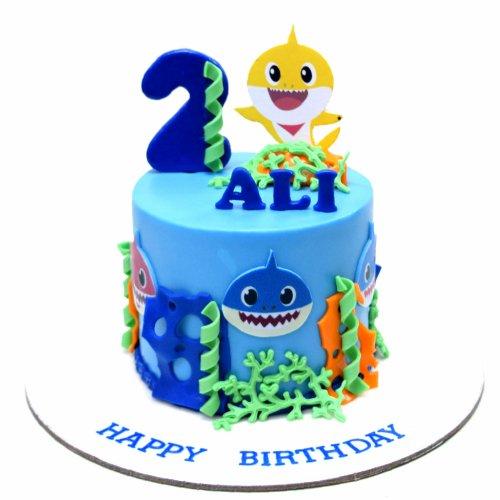 Baby shark cake 4
