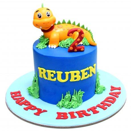 dinosaur cake 9 6