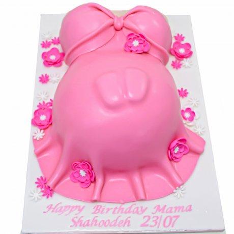 pregnant tummy cake 3 6