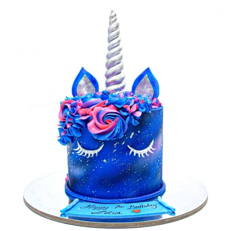galaxy unicorn cake 6