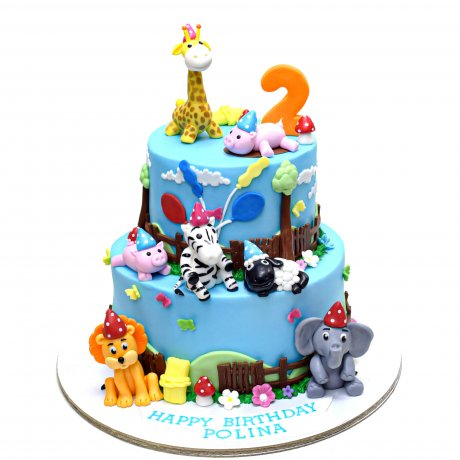 Cake with animals 1