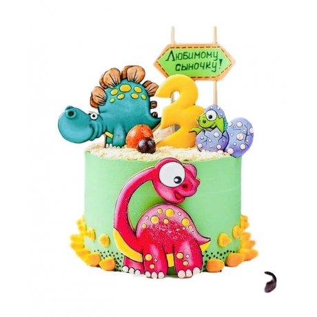 Cute dinosaurs cake 2