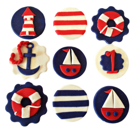Ahoy sailing nautical theme cookies