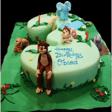 3rd Birthday Jungle Cake