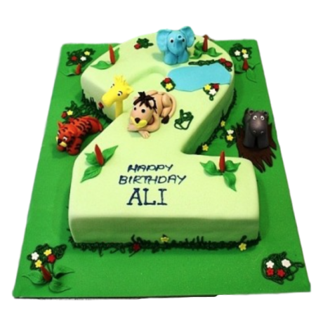 2nd Birthday Jungle Cake