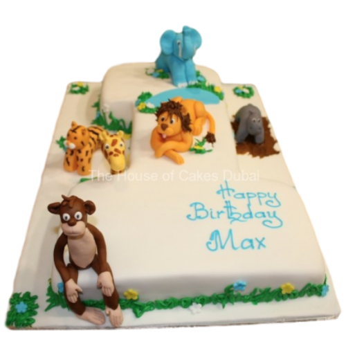 First Jungle Birthday Cake