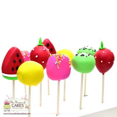 Summer theme fruit shape cake pops