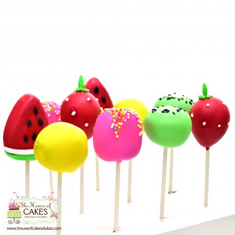 summer theme fruit shape cake pops 6