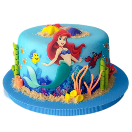 Fine Ariel Cake 6 Personalised Birthday Cards Bromeletsinfo