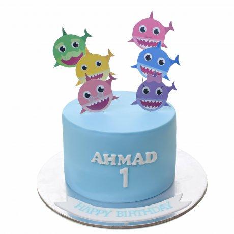 baby shark cake 10 6