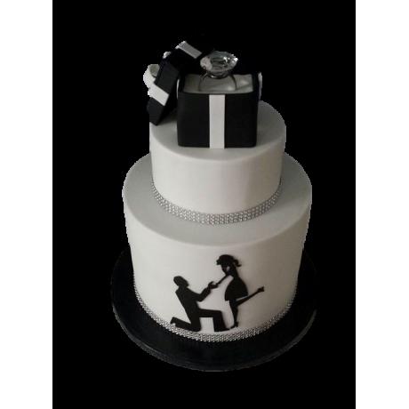 engagement ring cake 7 6