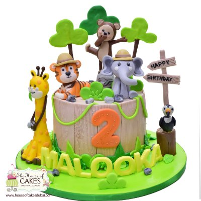 Best Jungle Animals Cake Ever