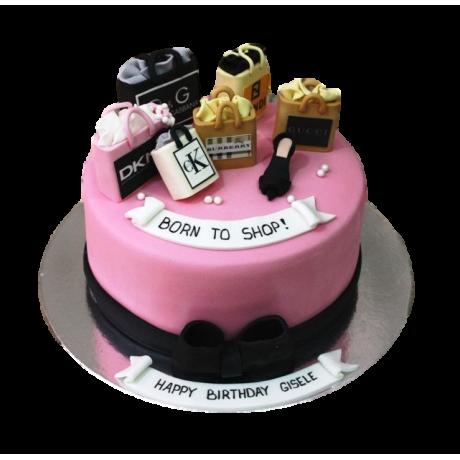 born to shop cake 6