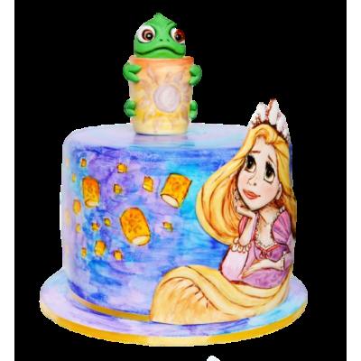 Rapunzel cake 8