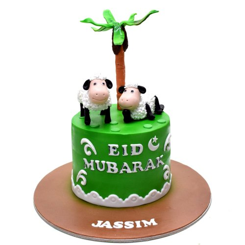 Cake with sheeps 2