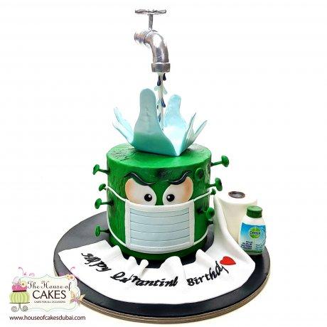 stay safe from corona virus cake 6