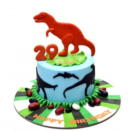 dinosaurs cake 4 6