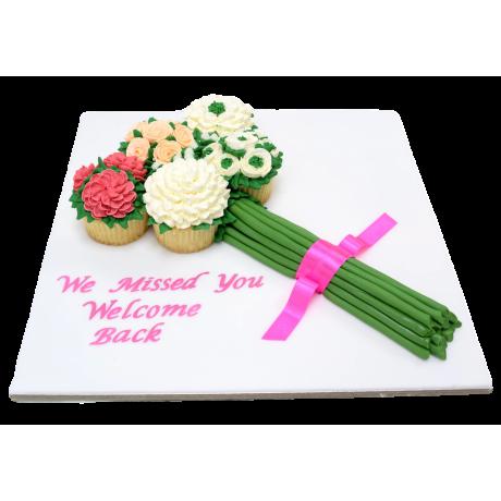 Cupcake bouquet cake