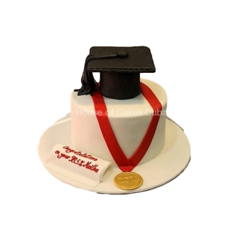 graduation cake with medal 6
