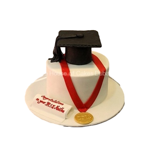 graduation cake with medal 7