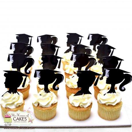 Graduation girl cupcakes