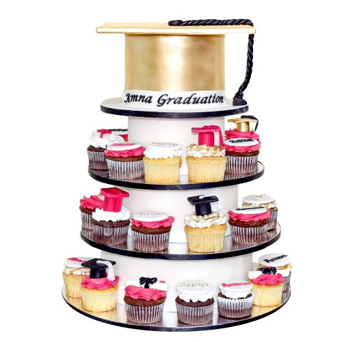 Graduation Cake and cupcakes Tower
