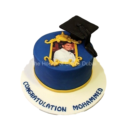 Graduation Cake with photo