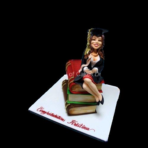 Graduation girl cake 2