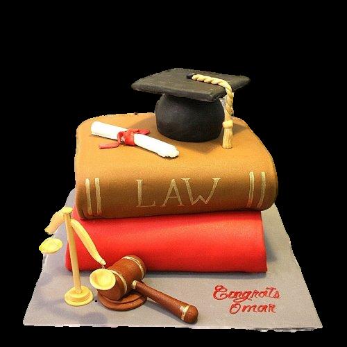 Lawyer graduation cake 3