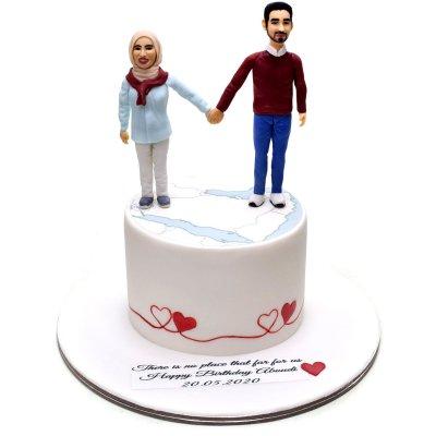 Happy couple anniversary cake