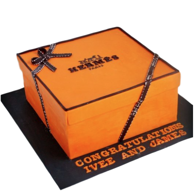 Hermes Box Cake