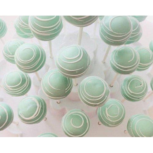 pastel green cake pops 7