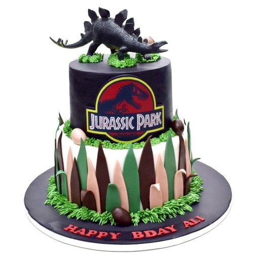 Jurassic Park Dinosaurs theme cake 2