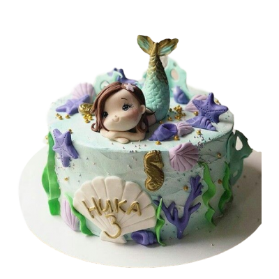 Mermaid cake 1