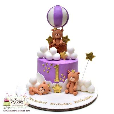 Teddy bears and ballon cake
