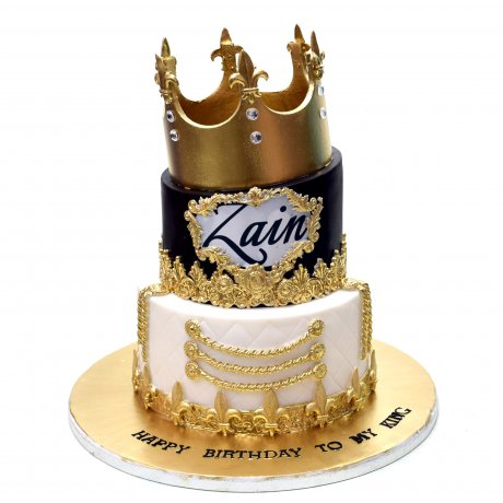 cake with golden crown 2 12