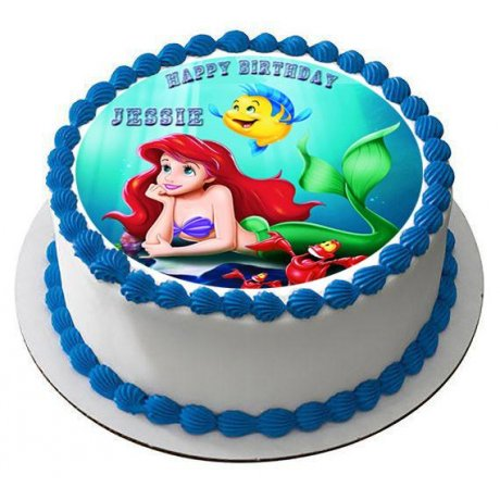 Ariel Cake with photo 2