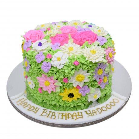 buttercream flowers cake 3 6
