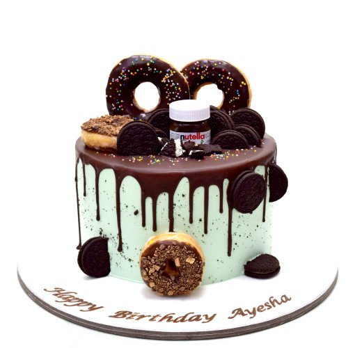 cake with doughnuts 1 8