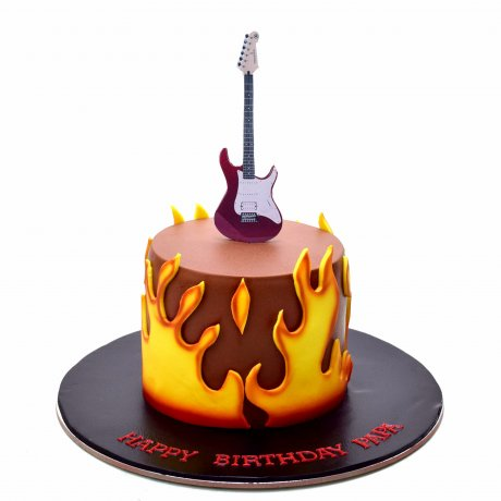 cake with guitar 6