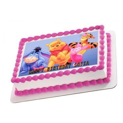 Winnie The Pooh Photo Cake 3