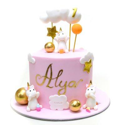 Cute unicorns cake 1