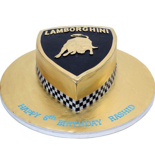 gold lamborghini cake 7
