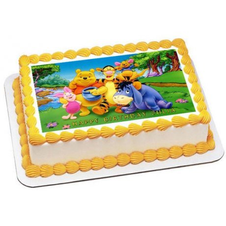 Winnie The Pooh Photo Cake 2