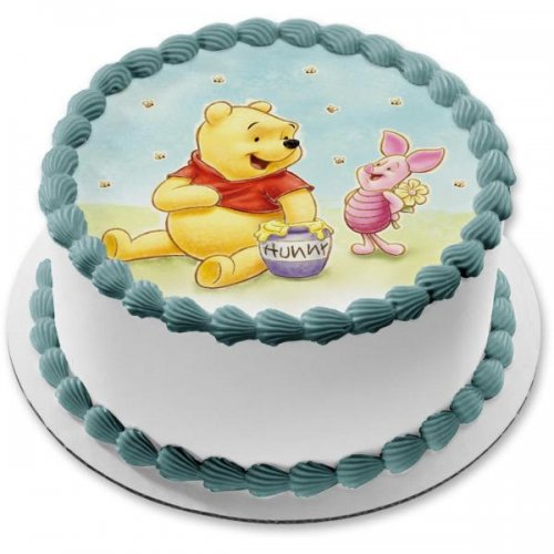 winnie the pooh cake with photo 5 7