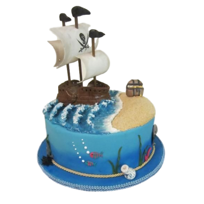 Pirate Ship Cake 7
