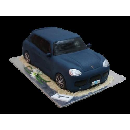 Porsche Cayenne cake - blue