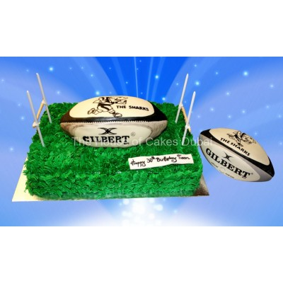Rugby Theme Cake