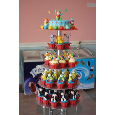 Circus Theme Cupcake Tower